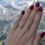 Swiss Alps Engagement Photo